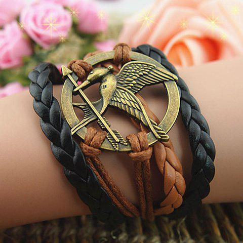 Fashion Vintage Arrow Bird Round Braided Friendship Bracelet AS THE PICTURE