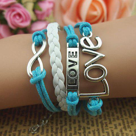 Fancy Infinity Letter Love Multilayered Bracelet AS THE PICTURE