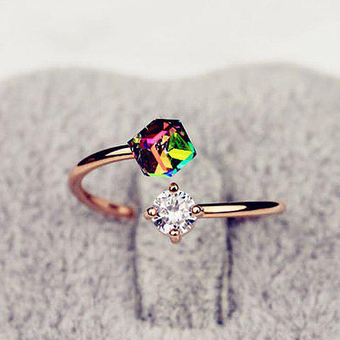Cheap Fashion Faux Crystal Embellished Cuff Ring For Women COLOR ASSORTED ONE SIZE