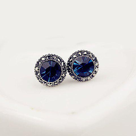 Outfits Fake Sapphire Stud Earrings