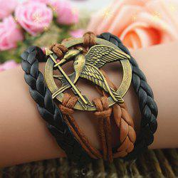 Vintage Arrow Bird Round Braided Friendship Bracelet -
