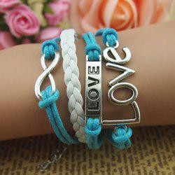 Infinity Letter Love Multilayered Bracelet - AS THE PICTURE
