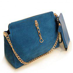 Fashion Chain and Suede Design Women's Shoulder Bag -