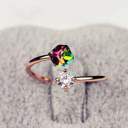 Fashion Faux Crystal Embellished Cuff Ring For Women - COLOR ASSORTED