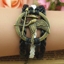 Vintage Bird and Arrow Embellished Multilayered Charm Bracelet For Women -