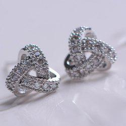Pair of Bling Bling Diamante Alloy Earrings For Women -