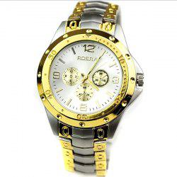 Quartz Men's Watch with 4 Arabic Numbers 8 Rectangle Indicate Steel Watchband and Luminous Pointer -