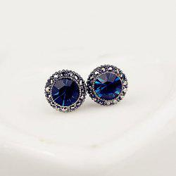 Fake Sapphire Stud Earrings