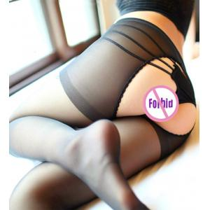 See-Through Sexy Style Cut Out Slimming Women's Pantyhose - BLACK ONE SIZE
