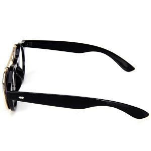 Double Layer Flip Lens Design Sunglasses with Black Frame - BLACK
