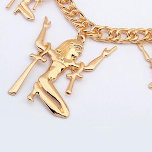 Punk Figure Pendant Necklace For Women -