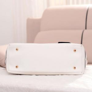 Casual Stripe and Pendant Design Women's Shoulder Bag - WHITE