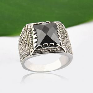 Chic Gem Decorated Ring For Men