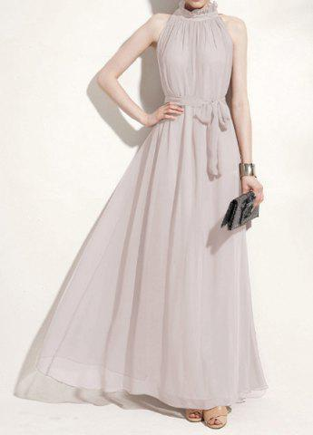 Chic Ladies Elegant Sexy Off Shoulder Chiffon Maxi Long Dress