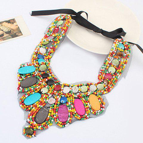 Cheap Bohemia Colored Beads Detachable Collar Sweater Chain Necklace For Women - COLORFUL  Mobile