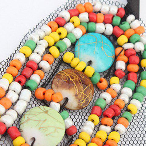 Trendy Bohemia Colored Beads Detachable Collar Sweater Chain Necklace For Women - COLORFUL  Mobile