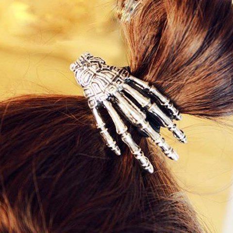 Outfits Punk Skeleton Hand Embellished Elastic Hair Band For Women - SILVER  Mobile