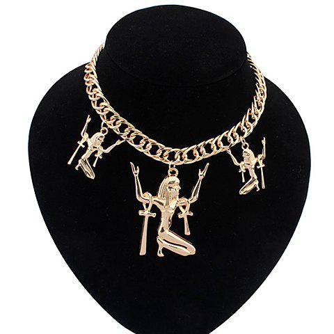 Buy Punk Figure Pendant Necklace For Women