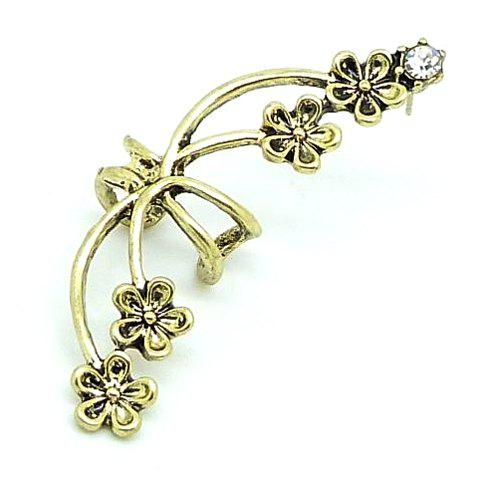 Outfits Punk Rhinestone Flower Ear Cuff (Piece) COLOR ASSORTED