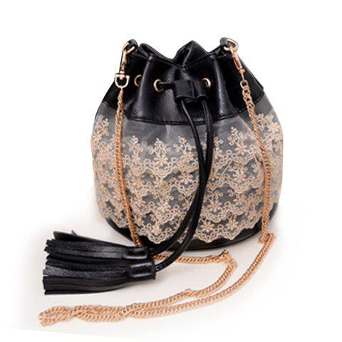Discount Sweet Lace and Tassels Design Women's Crossbody Bag