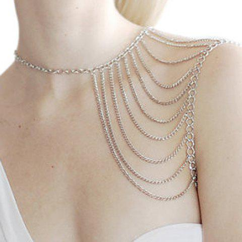 Online Chic Tassels Embellished Body Chain For Women