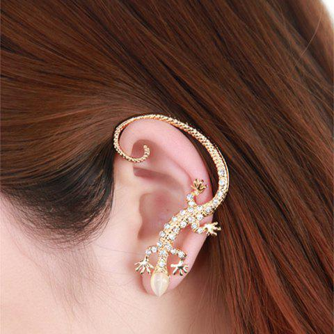 New One Piece of Punk Diamante Gekko Japonicus Earring