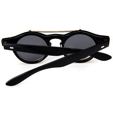 Outfit Double Layer Flip Lens Design Sunglasses with Black Frame - BLACK  Mobile