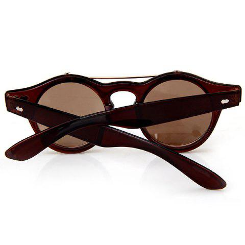 Best Double Layer Flip Lens Design Sunglasses with Brown Frame - BROWN  Mobile