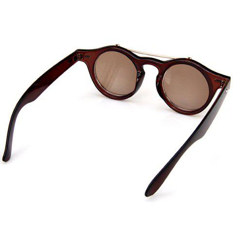 Outfits Double Layer Flip Lens Design Sunglasses with Brown Frame - BROWN  Mobile