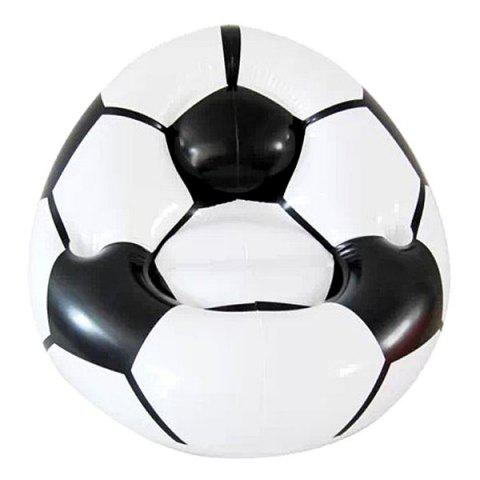 Discount Inflatable Football Shape Sofa Seat Inflatable Couch for Indoor and Outdoor Activities - WHITE AND BLACK  Mobile