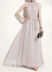 Ladies Elegant Sexy Off Shoulder Chiffon Maxi Long Dress -