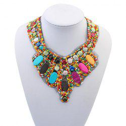 Bohemia Colored Beads Detachable Collar Sweater Chain Necklace For Women