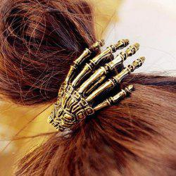 Punk Skeleton Hand Embellished Elastic Hair Band For Women -