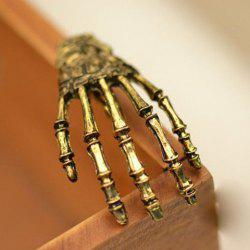 Vintage Skeleton Hand Embellished Hairpin For Women - COPPER COLOR