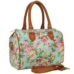 Sweet Floral Print and Zipper Design Women's Tote Bag -