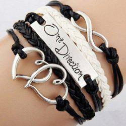 Letter Patterns Infinity Heart Layered Friendship Bracelet - COLOR ASSORTED