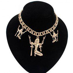 Punk Figure Pendant Necklace For Women