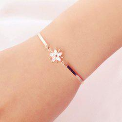 Shinning White Flower Embellished Charm Bracelet For Women -
