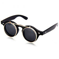 Double Layer Flip Lens Design Sunglasses with Black Frame