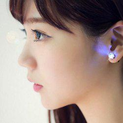 Fashion and Sweet Zirconium Drill Flashing LED Earrings for Women - BLUE