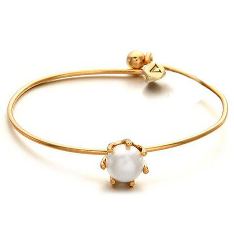 Sale Simple Pearl Inlaid Bracelet For Women