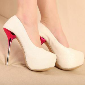 Stunning Solid Color and Sexy High Heel Design Women's Pumps -