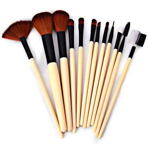 12PCS High-end Brush Sets Soft Cosmetic Face Powder Make-up Brush with Red Cloth Bag -