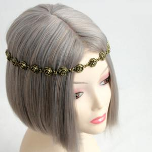 Flower Decorated Retro Hairband For Women - AS THE PICTURE