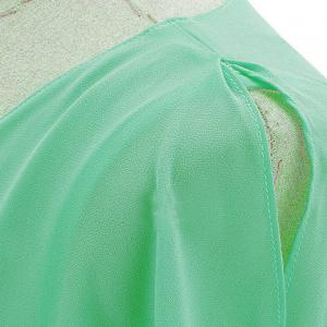 Casual Scoop Neck Solid Color Batwing Sleeves Women's Chiffon Blouse -