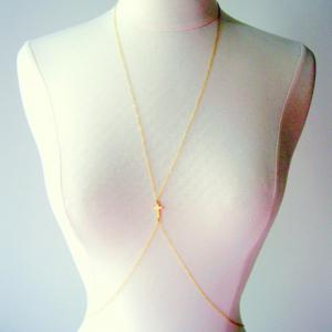 Cross Decorated Beach Body Jewelry - Golden