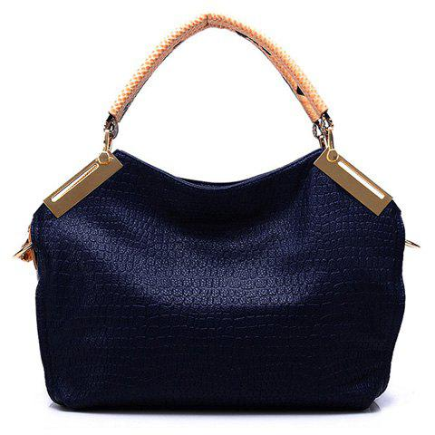 Affordable Vintage Style Solid Color and Crocodile Veins Design Women's Tote Bag