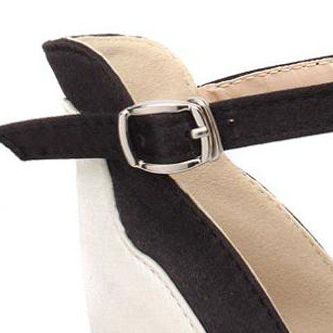 Hot Gorgeous Satin and Color Block Design Women's Sandals - 41 NUDE Mobile