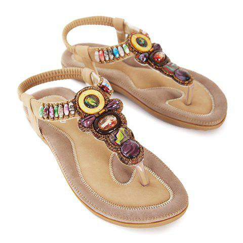 Buy Stylish Flip-Flop and Beading Design Women's Sandals