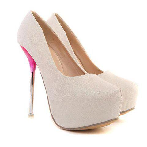 Hot Stunning Solid Color and Sexy High Heel Design Women's Pumps